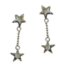 Star Charms Dangle Earrings .925 Sterling Silver Drop Designer Gift Boxed e801s #Gift #Jewelry