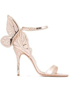 Sophia Webster 'Chiara' sandals Gold is a good neutral if you can't find the exact pink match;)