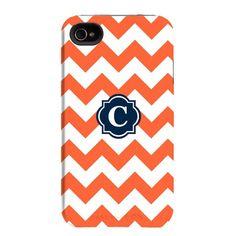 Chevron monogram iPhone case