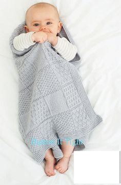 Oh This Is SoO Cute BaBy BLANKET KNITTING 8913 by ButtonItTight