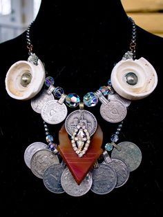 Old Mauritanian Shell and Tanfouk Necklace Boho by FuriousFancies