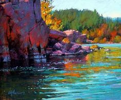 Pastel Landscape  Master Pastel Artist - Susan Oglive - I've tried pastels... I know how hard it is to be this good (heck even to be mediocre is impossible)