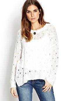 Boho Doll Open-Knit Sweater | FOREVER 21 - 2000108016