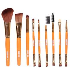 Makeup Brushes Vovotrade 9pcs Cosmetic Eye Shadow Foundation Blending Brushes Orange ** Be sure to check out this awesome product. (Note:Amazon affiliate link) #MakeupBrushSetsKits