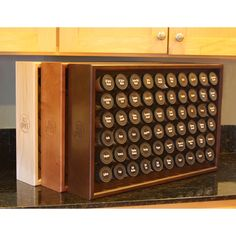 The AllSpice spice rack allows you to organize your entire spice collection in one place with clearly labeled glass spice jars. Kitchen Pantry, Kitchen Hacks, Kitchen Gadgets, Kitchen Storage, Kitchen Decor, Kitchen Ideas, Kitchen Organizers, Pantry Storage, Spice Storage