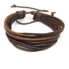 Super Hot Surfer/Skater Tribal Wrap Multilayer Genuine Leather Bracelet