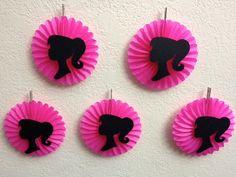 Barbie Birthday Party Decorations  5 Pink by TheGirlNXTdoor, $10.00