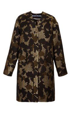 Shop Ottoman Jacquard Cannetee Duffle Coat by Rochas - Moda Operandi