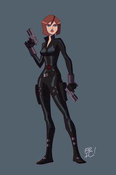 Animated Black Widow by EricGuzman.deviantart.com