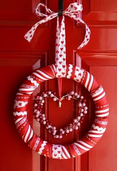 Valentine's Day Ribbon Wreath