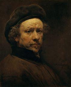 """O retrato Rembrandt van Rijn. """"Self-portrait, aged ca. Caravaggio, Rembrandt Self Portrait, Rembrandt Paintings, Rembrandt Art, Art Paintings, Figure Painting, Painting & Drawing, Drawn Art, Dutch Painters"""
