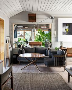 A Vintage Industrial Barn Home With A Beautiful Green Velvet Sofa — The Nordroom Bohemian Apartment, Vintage Apartment, Pierre Jeanneret, Vintage Furniture, Outdoor Furniture Sets, Outdoor Decor, Green Velvet Sofa, Paris Home, Kitchens And Bedrooms