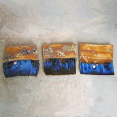 Clay Wall Tile Triptychs Stoneware Pottery by PorcelainJazz Ceramic Artists, Wall Tiles, Mud, Stoneware, Pottery, Clay, Etsy Shop, Ceramics, Abstract
