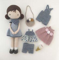 Crochet Dolls Free Patterns, Crochet Doll Pattern, Amigurumi Patterns, Doll Patterns, Crochet Doll Tutorial, Crochet Diy, Notions De Couture, Crochet Mignon, Patron Crochet