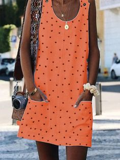 Loose Casual Dot Printing Summer Tank Dress – Pink-Always Sun sun dresses plus size sun dresses with sleeves sundress outfits sundresses dresses sundresses for weddings dresses sundresses Wedding Invitations Trends 2019 Casual Summer Dresses, Summer Dresses For Women, Casual Outfits, Fashion Outfits, Fashion Trends, Dress Casual, Summer Sundresses, Dress Fashion, Outfits 2016