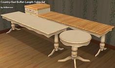 Mod The Sims - Country-Fied Tables Buffet-Length Set