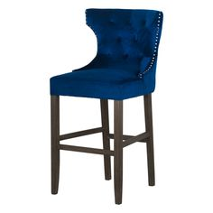 Navy Velvet Tufted High Bar Stool  This Navy Velvet Tufted High Bar Stool makes an ideal addition to bar or kitchen area.  Finished in navy velvet gives this piece an element of luxury and glamour while the colour ensures it will fit into most interiors…