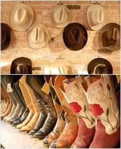 Can't ever have enough cowboy boots and cowboy hats