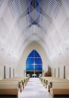 kasahara design work st. voile chapel japan designboom