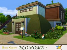 Eco Home 1 by Evi at TSR via Sims 4 Updates