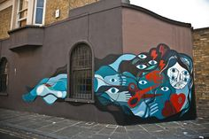 Community Post: 15 Brilliant Street Artists, Who Aren't Banksy Street Art News, Street Artists, London Art, London Street, East London, World Street, Farm Art, Hip Hop Art, Beautiful Streets