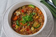 Ridiculously Easy Lentil and Vegetable Stew.