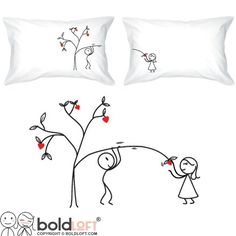BOLDLOFT Love Grows For You Couple Pillowcases-His and Hers Gifts for Couples,Cute Valentine's Day Gifts for Him for Her,Romantic Anniversary Gifts for Boyfriend for Girlfriend