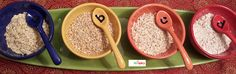 Degree of processing of grains affects digestibility & health benefits. a) old fashioned rolled oats - steamed & rolled flattened oats stovetop cook time 10 to 20 min. b) quick cooking steel-cut oats - thick & chewy oats have been sliced by steel blade stovetop cook time 5 to 7 min. c) quick oats - rolled oats cut into smaller pieces stovetop cook time 2 to 3 min. d) instant oatmeal - rolled oats partially pre-cooked to reduce cook time about 1 min when hot milk or boiling water is added.