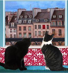Cats in Paris, Ann Bickel
