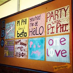 Fun Pi Phi signs #piphi #pibetaphi Sorority Sugar, Pi Beta Phi, Sorority Crafts, Greek Life, Projects To Try, Boom Boom, Angel Wings, Arrows, Project Ideas