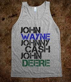 John Wayne, Johnny Cash, John Deere