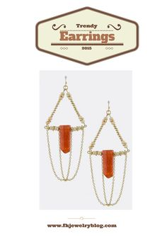 Check out some of today's hottest Trendy Earrings!  www.fkjewelryblog.com