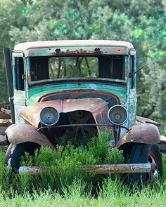 A fine art photo of a rusty PUNCH DRUNK truck. Wish I knew where I could find a car like this for a photo shoot