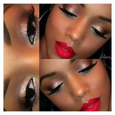 wedding makeup african american best photos ❤ liked on Polyvore featuring beauty products