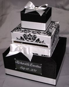 Black and White Card box