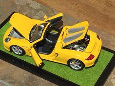 1/18 Diecast Car Porsche Carrera GT Minichamps Yellow diecast car model car metal car toy car exotic car cars Christmas Birthday present by ChasingToyCars on Etsy