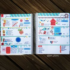 "681 Likes, 14 Comments - Jen (@jen_plans) on Instagram: ""First full week in my horizontal planner! I'm still getting used to the layout and figuring how…"""