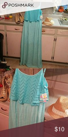 Turquoise maxi with crochet. BNWT just be Dresses Maxi