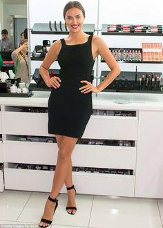 Irina Shayk - all black outfit