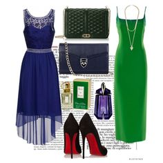 blue and green by ella1122ghost on Polyvore featuring polyvore fashion style Gai Mattiolo Dorothy Perkins Christian Louboutin Rebecca Minkoff Aspinal of London Givenchy Thierry Mugler Oscar de la Renta