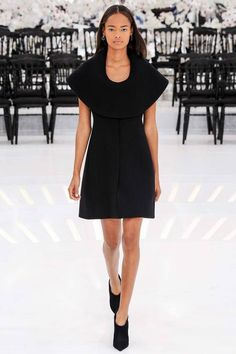 Christian Dior | Fall/Winter 2014 Couture Collection via Designer Raf Simons | Modeled by Malaika Firth | July 7, 2014; Paris | Style.com