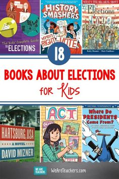 Whether it's election season or just time for a politics unit in your social studies class, these books about elections approach the topic from many angles. #election #electionbooks #socialstudies #books #reading #library #classroom #classroombooks Read Aloud Books, Good Books, Children's Books, We Are Teachers, 12th Book, Fiction And Nonfiction, Chapter Books, Social Studies, Lesson Plans