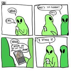 i love how they draw aliens Arte Alien, Alien Art, What's So Funny, Hilarious, Funny Stuff, Cute Comics, Funny Comics, Dc Memes, Funny Memes