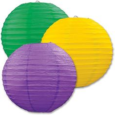 Set of 6 Mixed 2 Size Purple Yellow Green Round Paper Lantern Lampshade for Wedding Birthday Mardi Gras Halloween Party Decoration DMS http://www.amazon.co.uk/dp/B013Y9YO2S/ref=cm_sw_r_pi_dp_Qk.-wb1X9H73Z