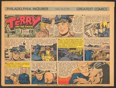 Terry and the Pirates Half Page Comic Strip art by George Wunder July 31 1960 - Found on Lookza.com ----   www.advintageplus.com
