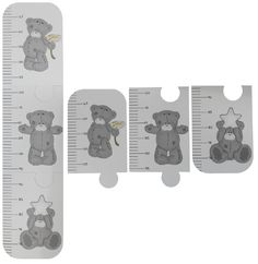 Starting at 65cm and ending at 150cm, this growth chart will keep track of your child's height through all his/her pre-school years and more. Painted in white and decorated with three gorgeous Tatty Teddy bears - perfect for any Tatty Teddy nursery! Simply stick onto your wall, at the correct height, with double-sided tape or prestick. This chart comes in three pieces for easier delivery. Ultra-light design! Colours and style might vary slightly. Size: 85x20cm (when assembled)