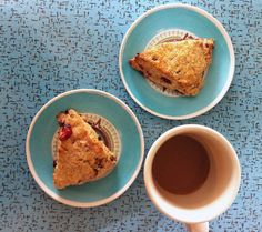 Poppytalk - The beautiful, the decayed and the handmade: Coffee Shop Worthy: Chocolate + Cherry Cream Scones