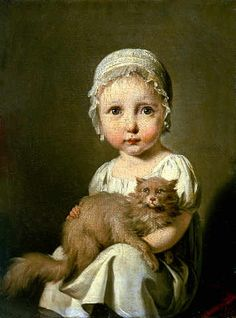 Gabrielle Arnault, Enfant - Louis Leopold Boilly, 1813--what a funny little face on that kid!