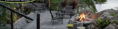Pacifica Landscape Works Inc fire features! Landscape Architecture Design, Maybe Someday, Backyard, Patio, Outdoor Living, Outdoor Decor, Living Spaces, Fire, Furniture