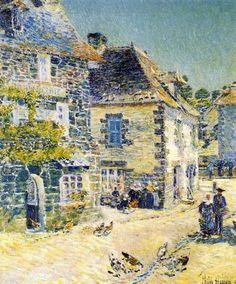 "Childe Hassam (1859-1935) ~ ""Pont-Aven, Noon Day"",  Bretagne 1897"